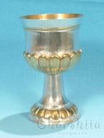 Посребрена и позлатена чаша с орнаменти 1