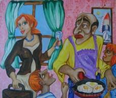 """Картина """"Семеен обяд"""""""