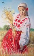 """painting """"Wheat bouquet"""""""
