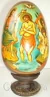 Рисувани икони върху дървени яйца 3