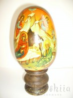 Рисувани икони върху дървени яйца 8