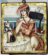"""Картина """"На чаша червено вино''"""