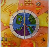 Рисуван стенен часовник 7