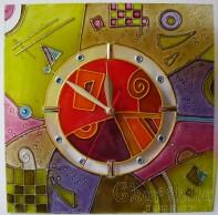 Рисуван стенен часовник 1