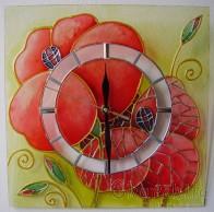 Ръчно рисуван стенен часовник
