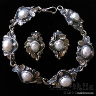 Silver set of two parts with Pearl