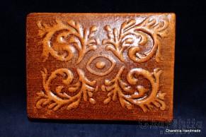 Кутия за бижута или пури, ръчна изработка от естествена кожа