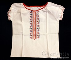 Junior shirt for girl with Bulgarian embroidery