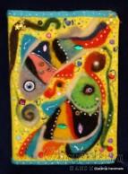 Тефтер облечен във филц, декориран с елементи