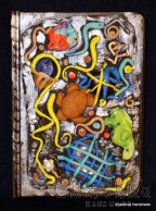 Notebook dressed with polymer clay