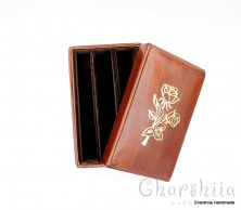 Book cover with bookmark, genuine leather