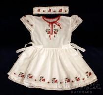 Детска рокличка и лента за глава с българска шевица