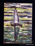 """Картина - Батик ''Море 2"""""""
