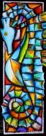 """Картина """"Морско конче в цветен танц"""""""
