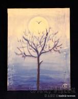 """Картина - Батик ''Енергийно дърво 3"""""""