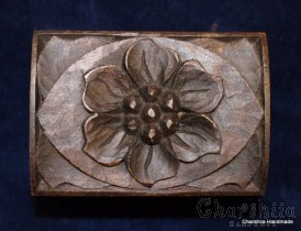 Jewelry box of woodcarving ''Flower''