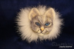 Brooch made of felt ''Cat'' 2