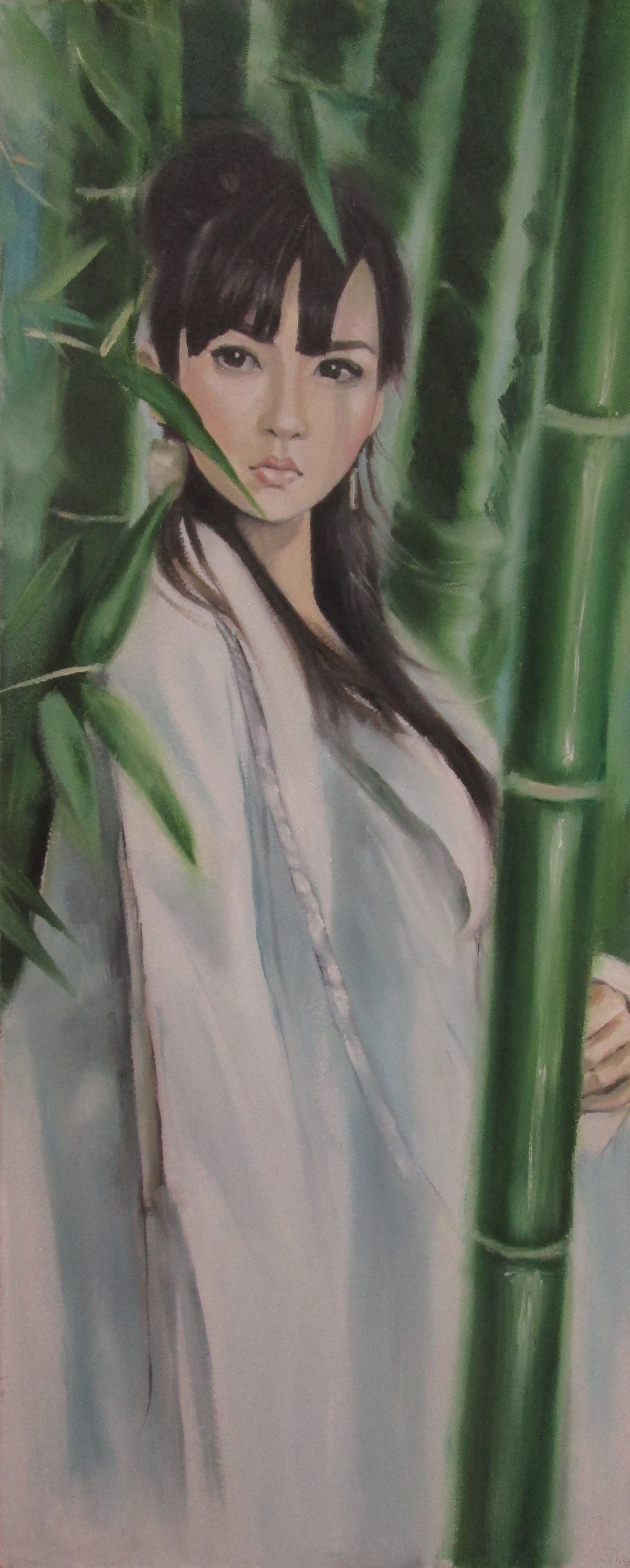"""Картина """"Сред бамбука"""""""