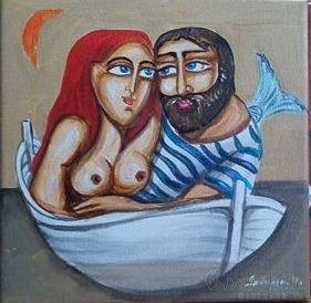 """Картина """"Рибар и сирена"""" 3"""