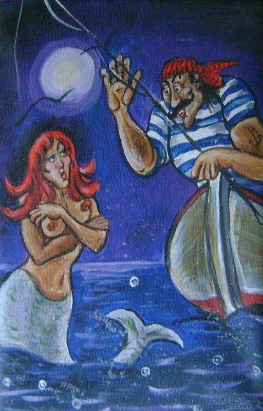 """Картина """"Моряк и сирена"""""""