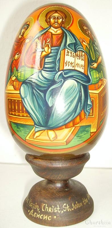 Дейсис - рисувани икони върху дървени яйца