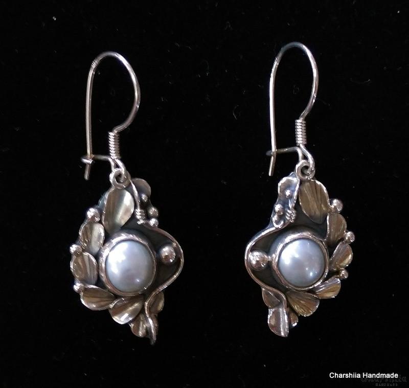 Сребърен комплект от две части с Перли