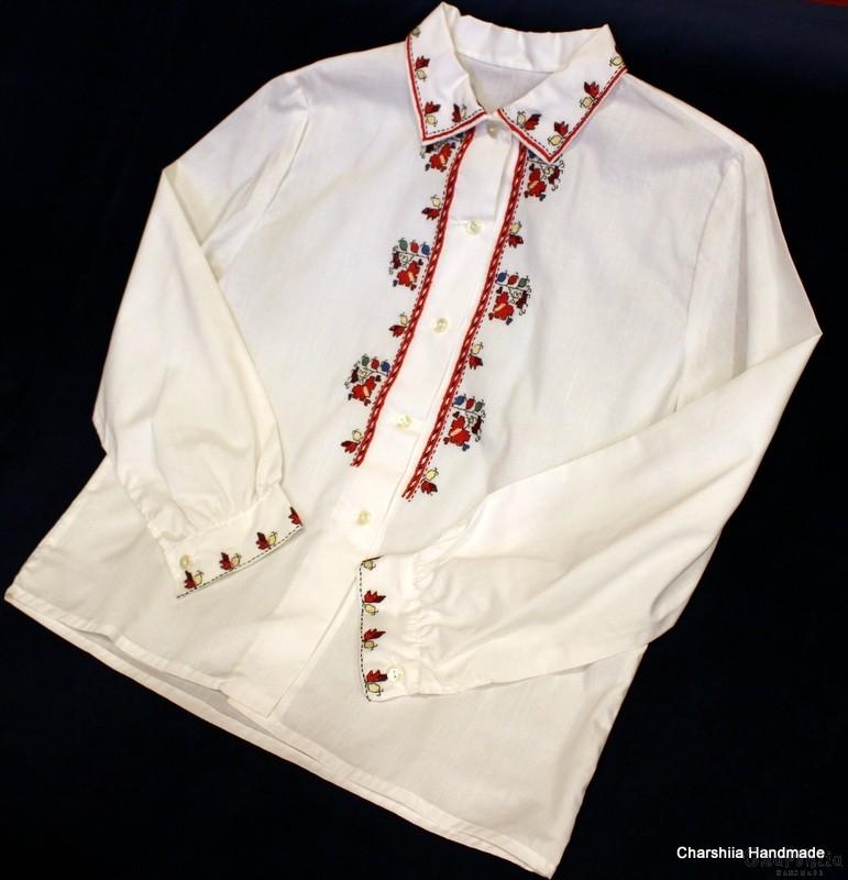 Юношеска блуза за момче с българска шевица