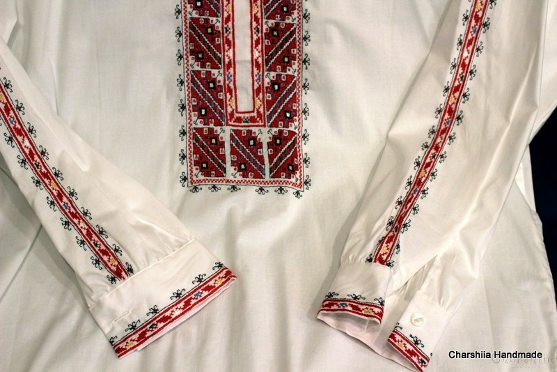 Мъжка риза с българска шевица