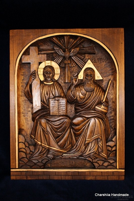 Дърворезба - Икона образ на ''Светa Троица''