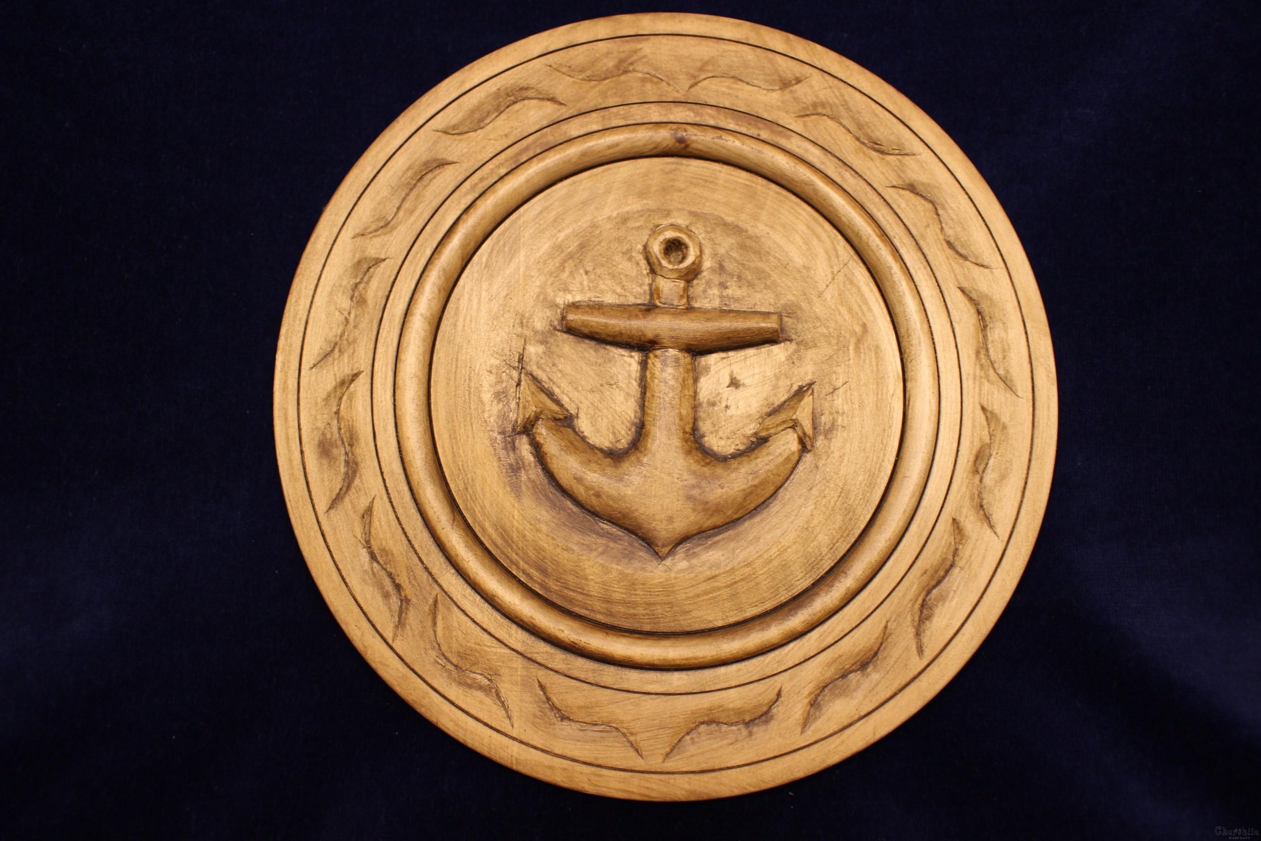 Чиния дърворезба ''Морска котва''