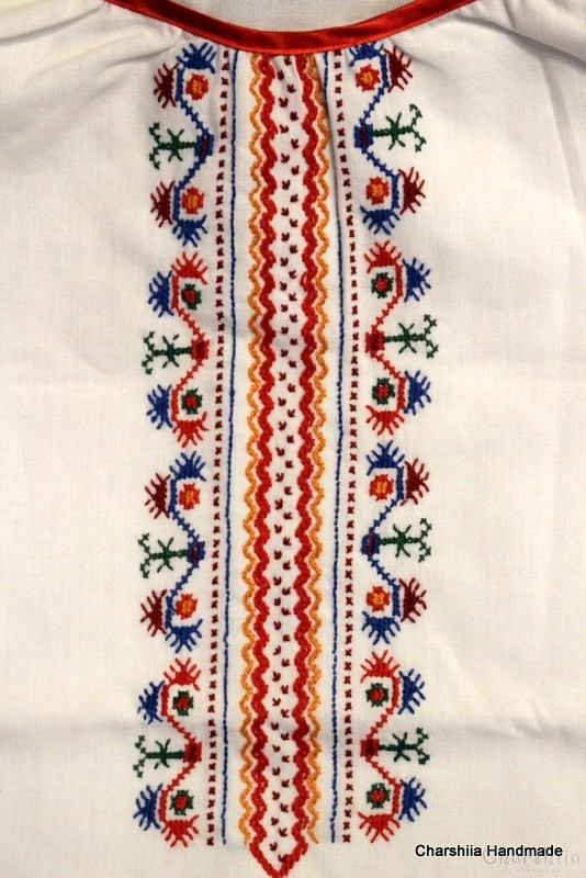 Юношеска блуза за момиче с българска шевица