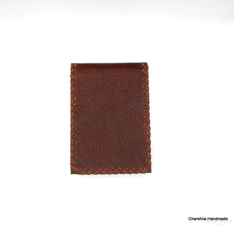 Бележник , ръчно изработен от естествена кожа