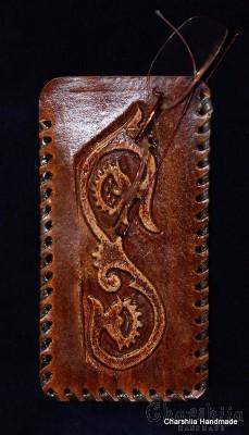 Калъф за очила, ръчно изработен от естествена кожа