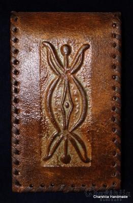 Бележник, ръчно изработен от естествена кожа