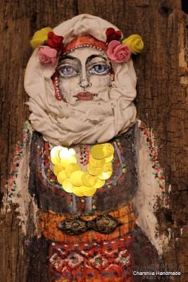 Дървено пано - Традиционна Българска мома
