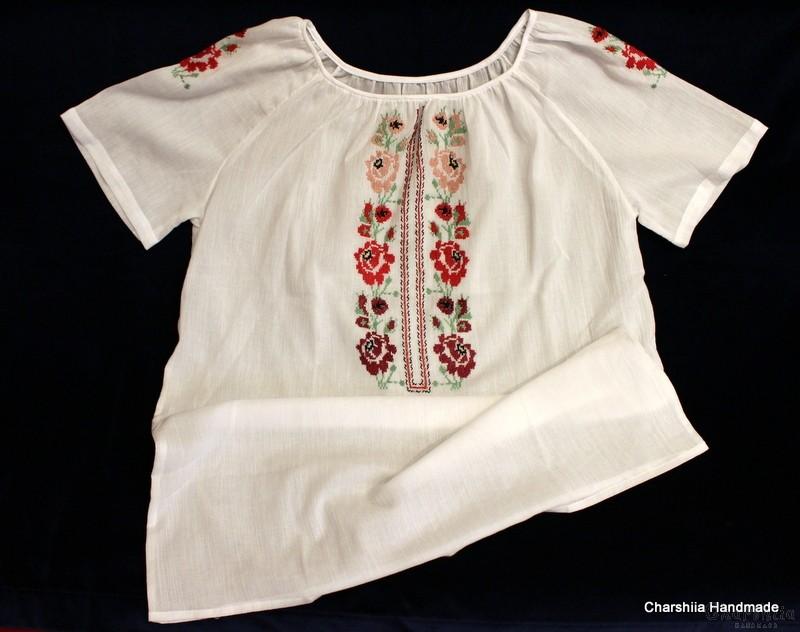 Дамска блуза кенар с българска шевица