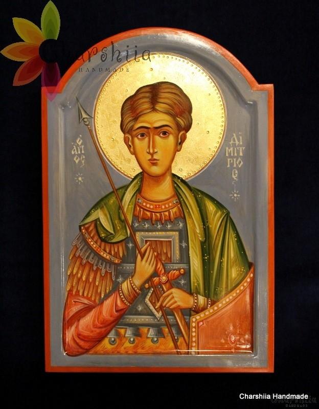 Икона образ на ''Свети Великомъченик Димитър''