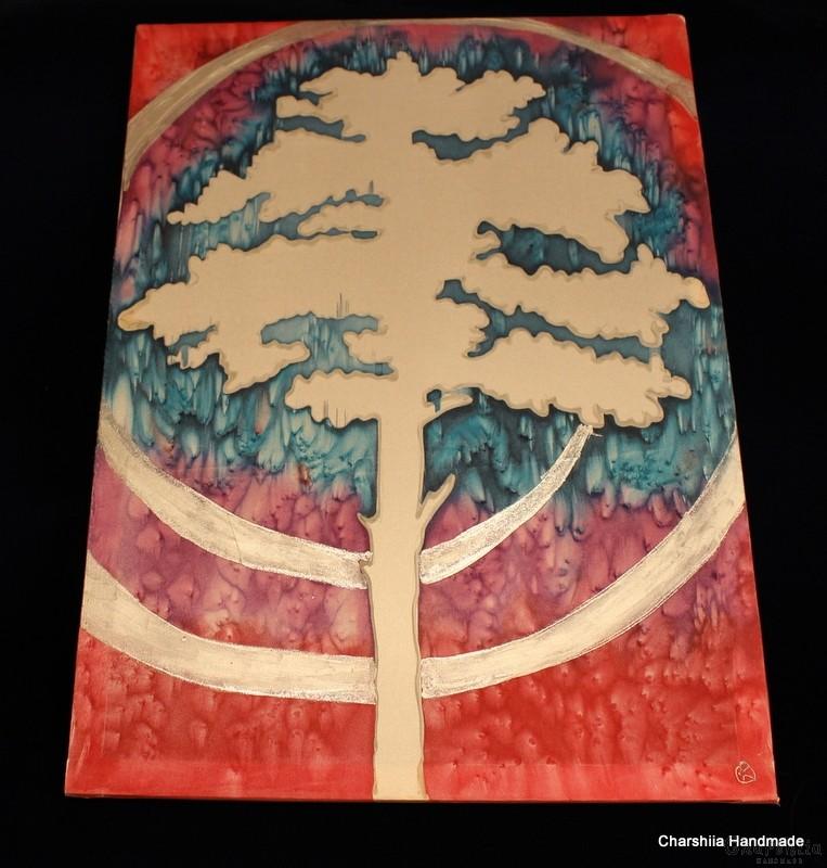 """Картина - Батик ''Енергийно дърво 6"""""""