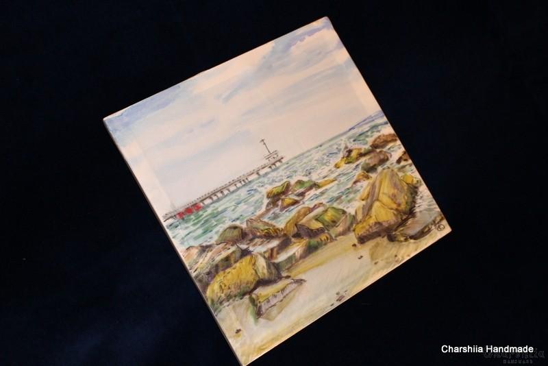 """Картина - Батик ''Море 3"""""""