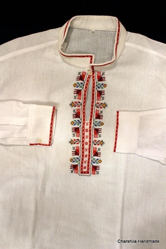 Мъжка кенарена блуза с българска шевица