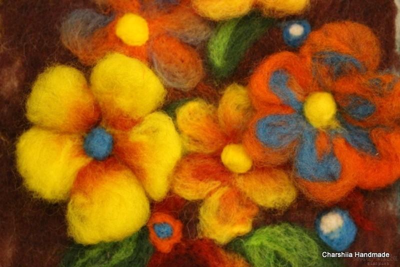 Филцово пано ''Домашни цветя''