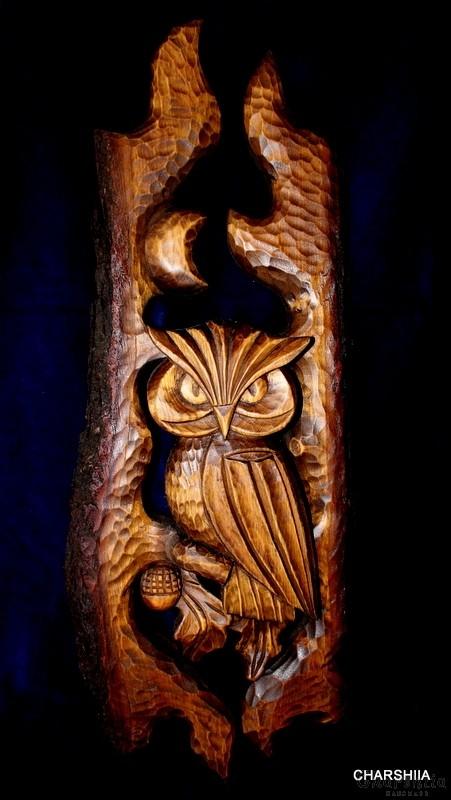 Дърворезба ''Голяма Сова''