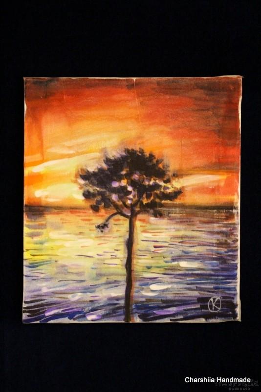 """Картина - Батик ''Енергийно дърво 2"""""""