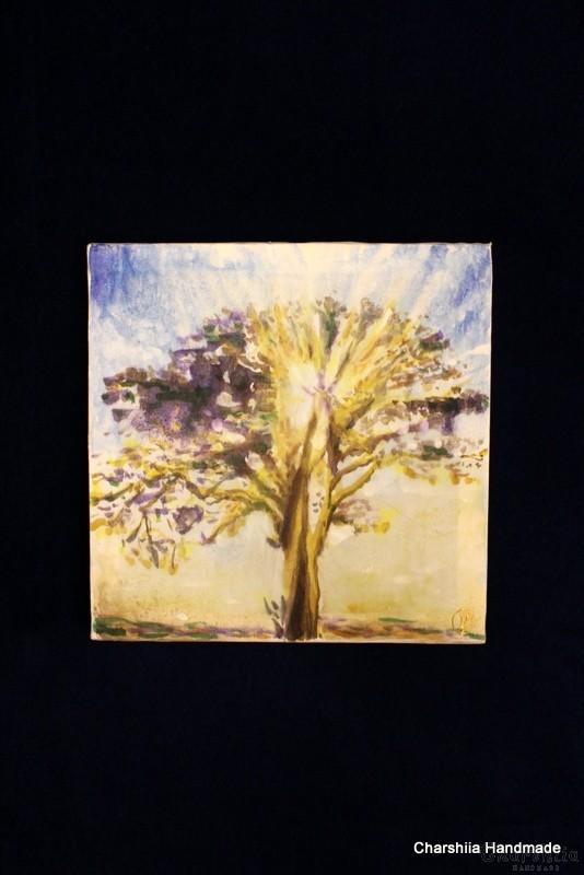 """Картина - Батик ''Енергийно дърво 1"""""""