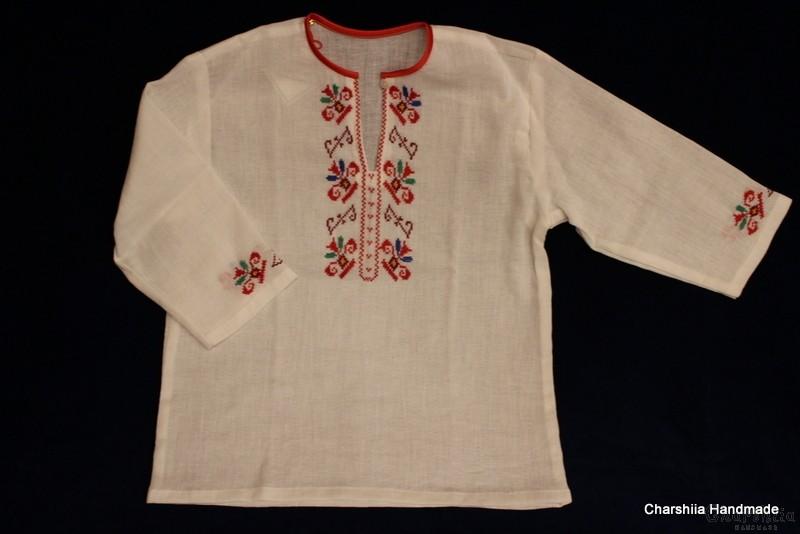 Детска кенарена блуза с българска шевица