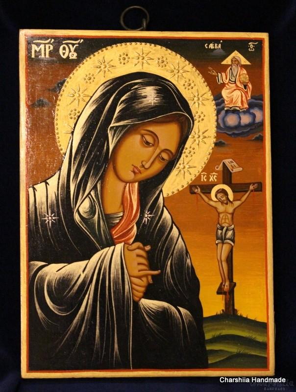 Икона образ на Матер Долороза (Богородица Скърбяща)