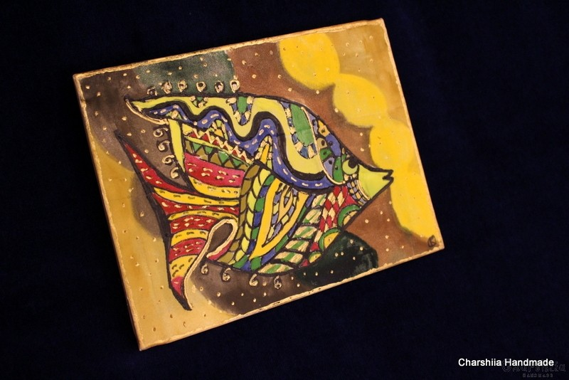 """Картина - Батик ''Риба 1"""""""