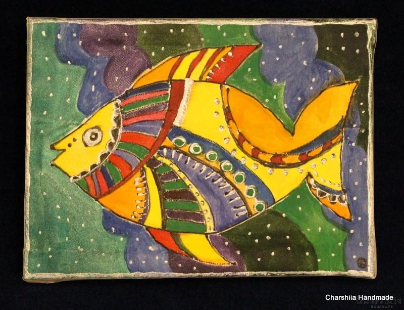 """Картина - Батик ''Риба 2"""""""