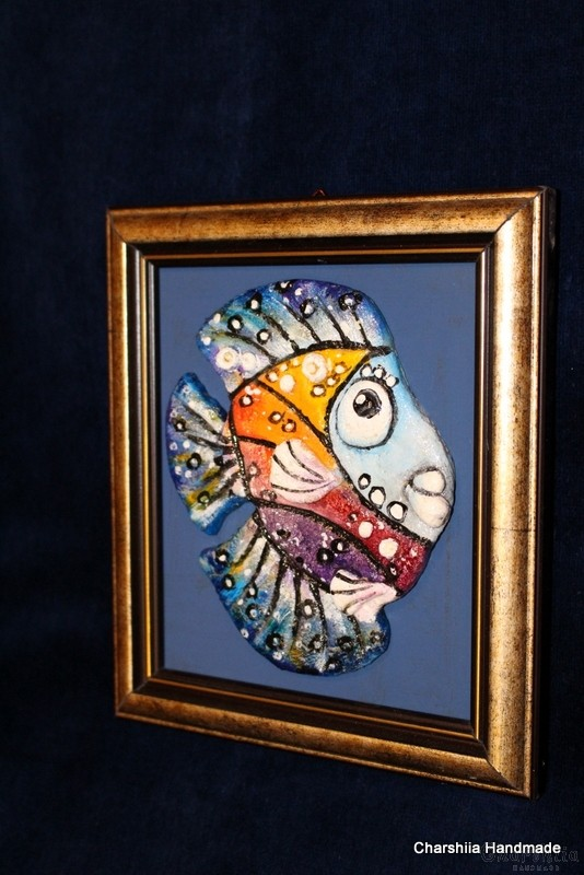 """Картина ''Керамична риба"""" 7"""