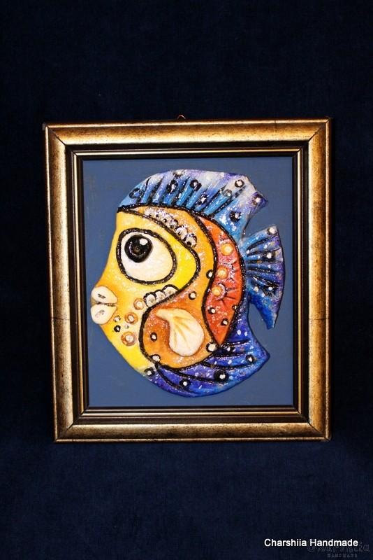 """Картина ''Керамична риба"""" 8"""
